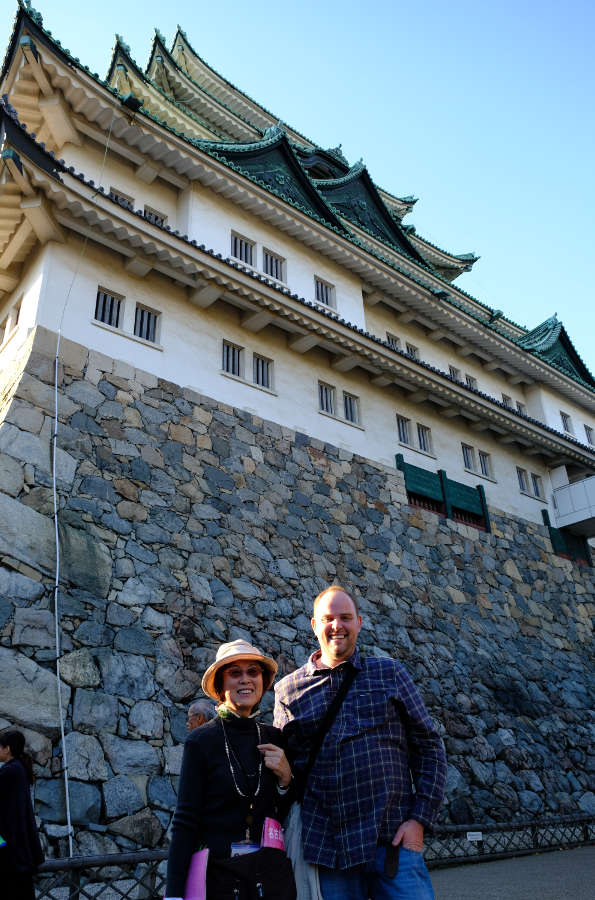Me with my guide at Nagoya Castle