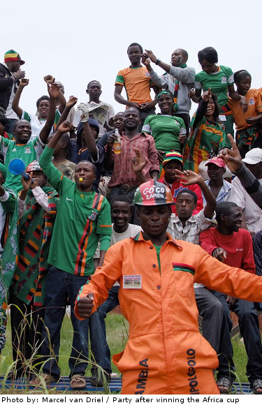 Winning the African cup, Zambia