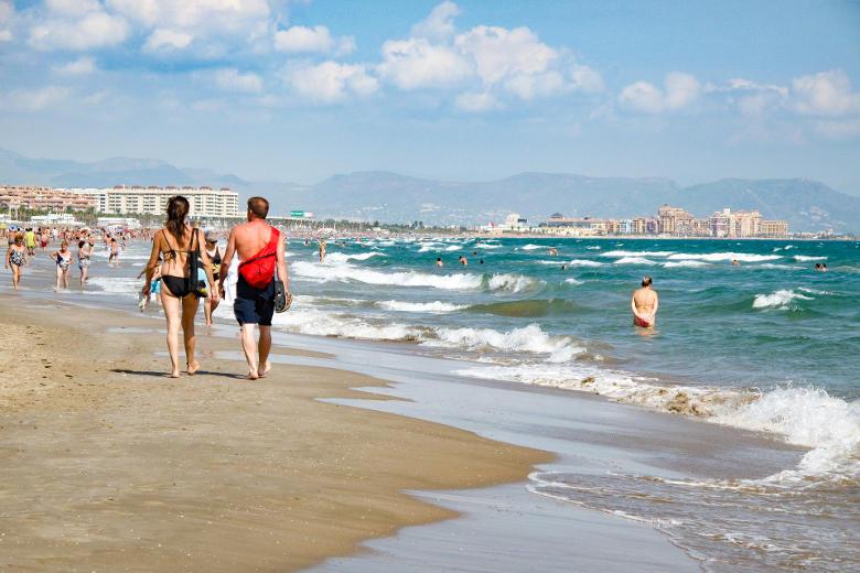 Doen in valencia, naar het strand toe